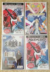 Mockingbird #1 Shield 50th Anniversary Ward Variant 1st Appearance Red Widow