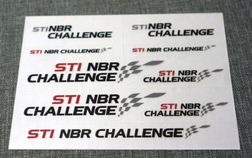 Genuine JDM Subaru STi NBR Challenge Nurburgring Sticker Pack 9pcs Red /& Black