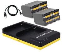 2 X Akku + Dual-ladegerät Für Yongnuo Yn300 Yn600 Led Kameralicht - 6600mah