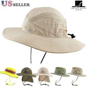 999332c03b5 50 UPF Unisex Outdoor Safari Sun Mesh Bucket Boonie Hat UV Sun ...