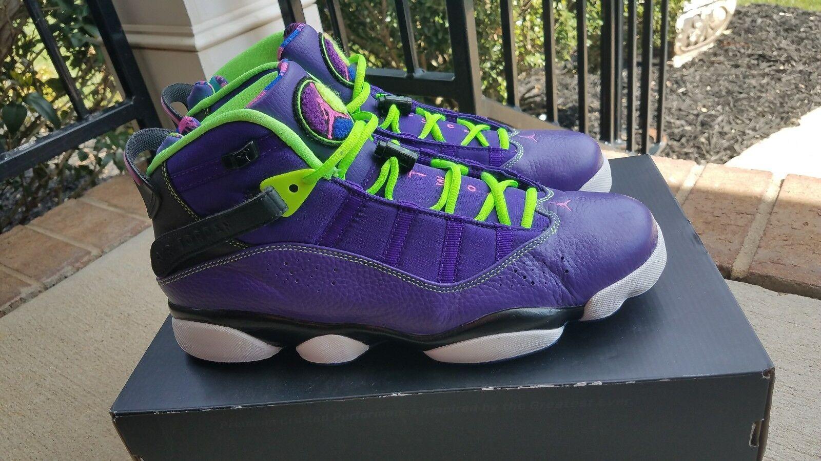 Nike Air Jordan 6 Rings Bel Air Court Purple Shoes SIZE 11 Seasonal clearance sale
