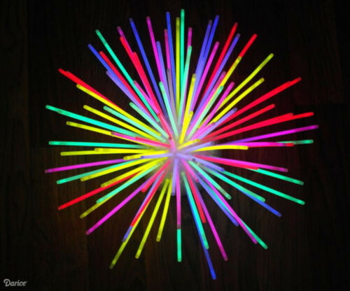 Lot de 50 Extreme Brillante Non-Toxique Brillant Coloré Sticks 8 in environ 20.32 cm