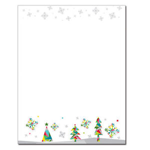 Christmas Stationery.Details About Prismatic Holiday Winter Christmas Stationery Letterhead 25 Or 80pk