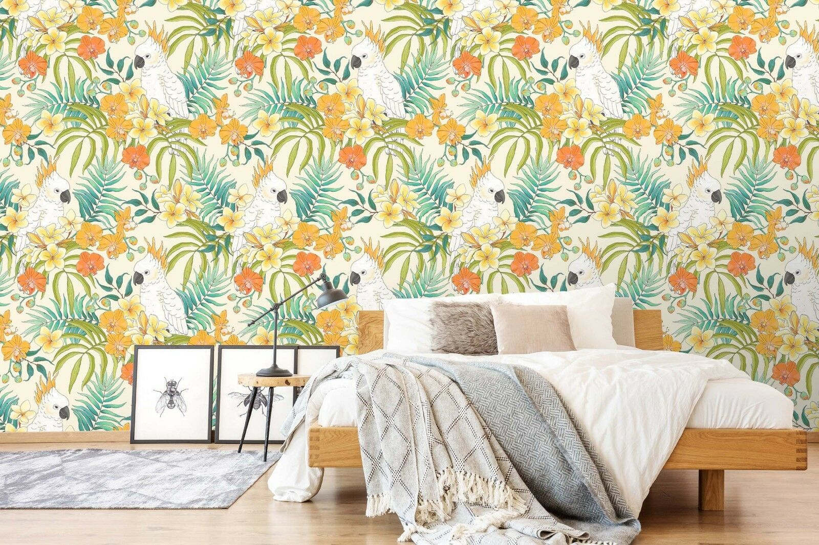 3D Parred color Garden 45 Wall Paper Wall Print Decal Wall Deco Indoor Murals