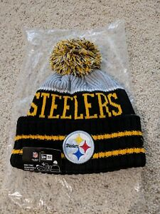 Image is loading New-Era-Pittsburgh-Steelers-Knit-2018-Winter-Beanie- 31bf8980fdf