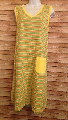fresh produce striped dress size XL