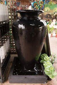 GRC-Outdoor-Garden-Patio-Water-Feature-Carolina-Fountain-Medium-Urn-Black