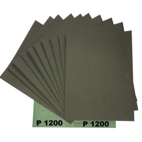 20 Blatt von  P1200 Wasserschleifpapier GRÜN für Autolack 230x280mm Hammerpreis