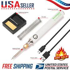 Mini Portable Usb 5v 8w Electric Powered Soldering Iron Pentip Switch Kit