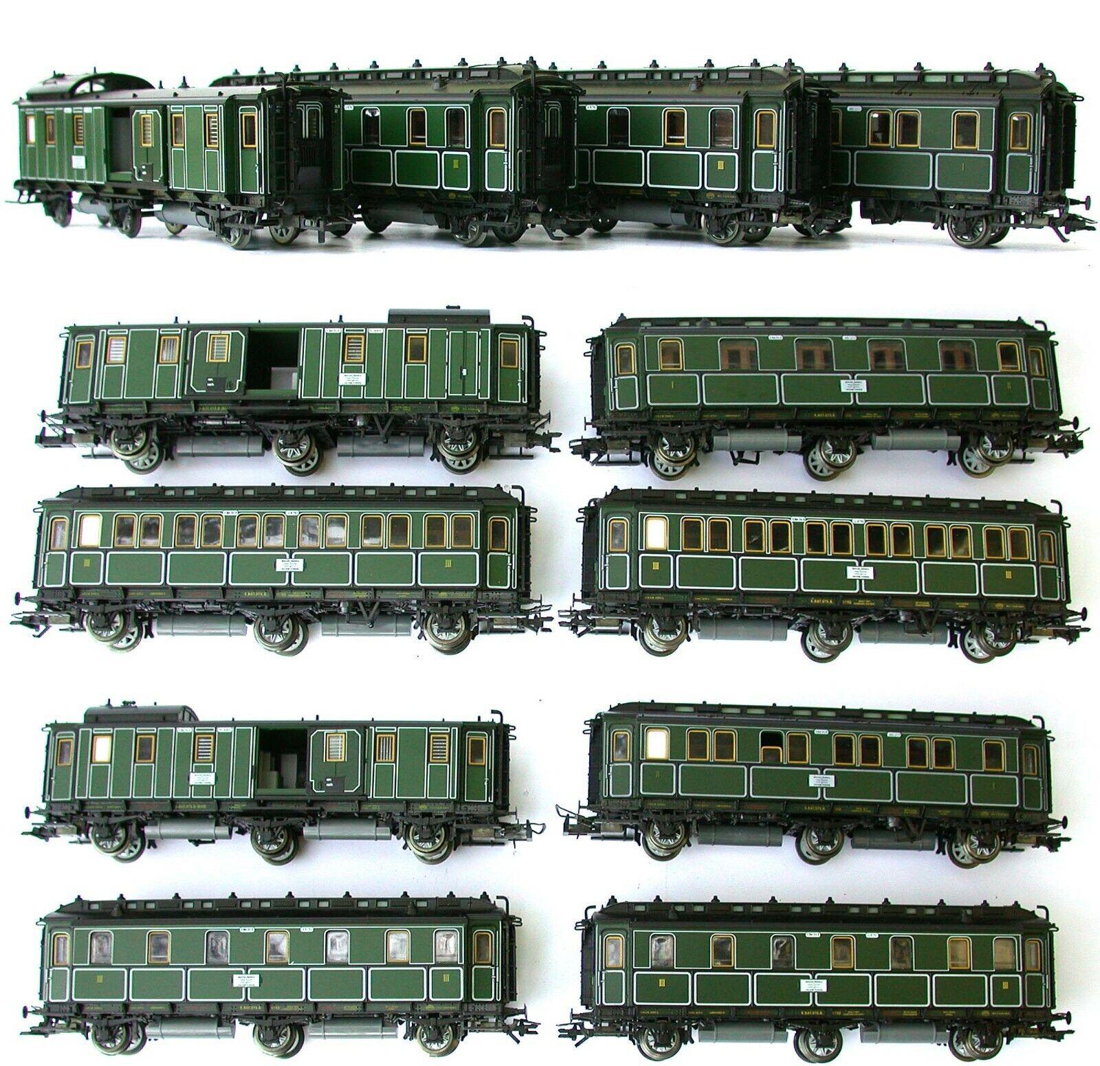 Convoglio ferrovie bavaresi TRIX 4 vetture art. 23016 2x23017 23018 C.C. sc. H0
