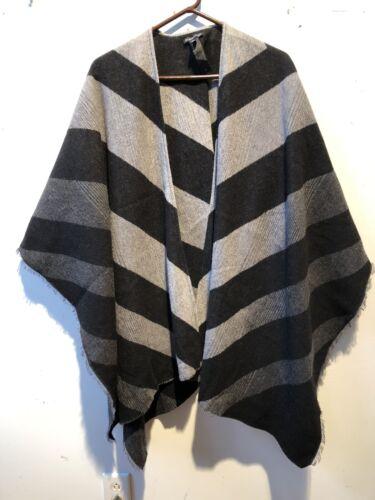 Eileen Fisher Chevron Wool Serape Excellent!