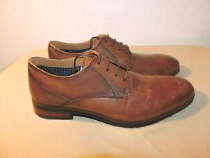 8d687ecaec1 Details about Steve Madden Mens Lawton Cognac Leather Oxford Dress Shoe  Size 11