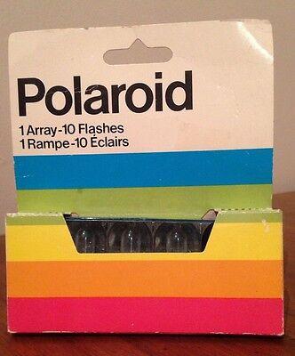 Polaroid SX-70 One Step Land Camera Rainbow Stripe Instant Film 10 Flashes Array