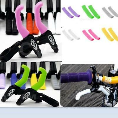 2Pcs Brake Handle Silicone Sleeve MTB Road Bike Brake Lever Protection Cover NEW