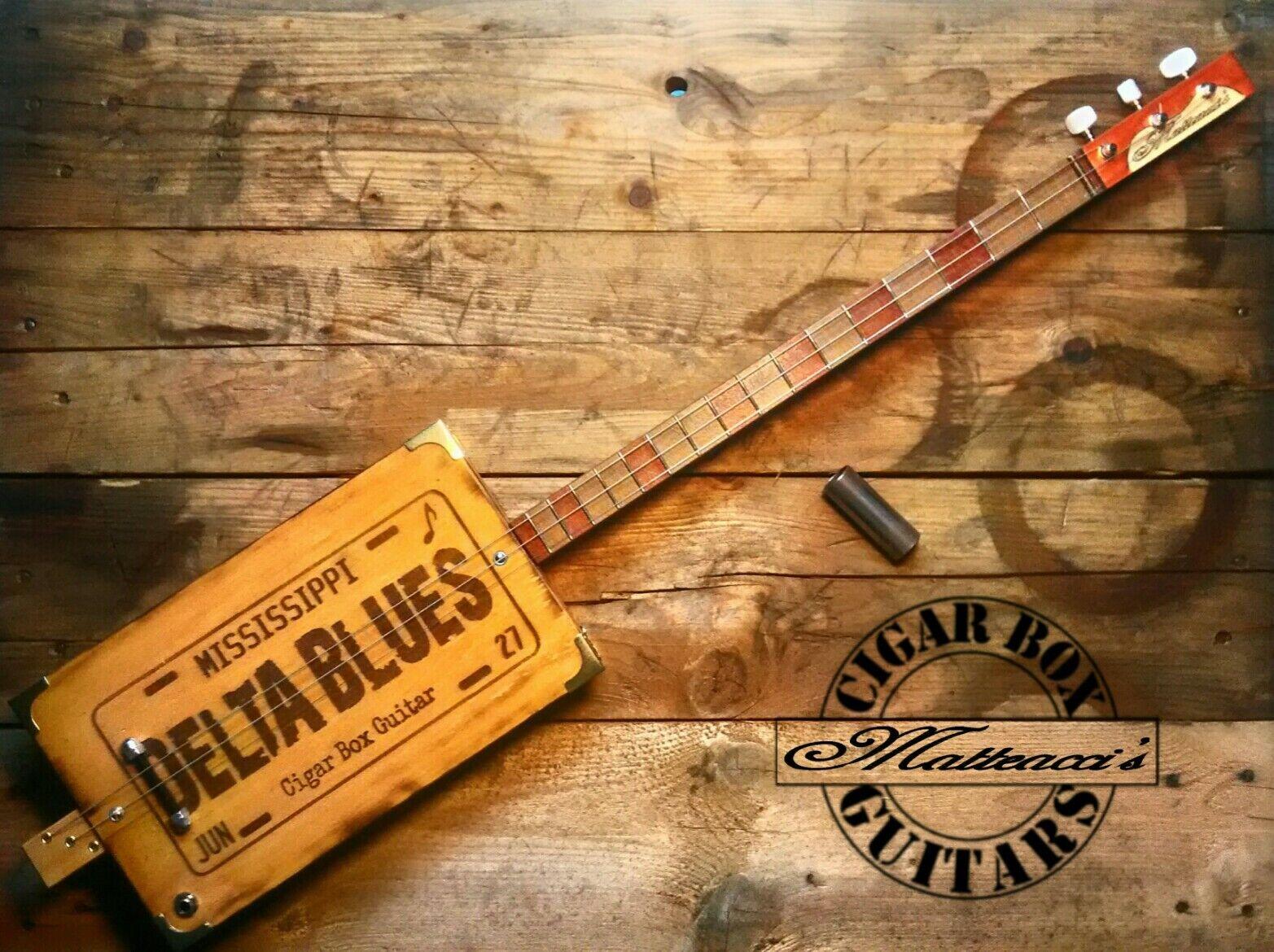 grandi risparmi Delta blus Cigar Cigar Cigar Box Guitar 3T-P by Robert Matteacci  risparmiare sulla liquidazione