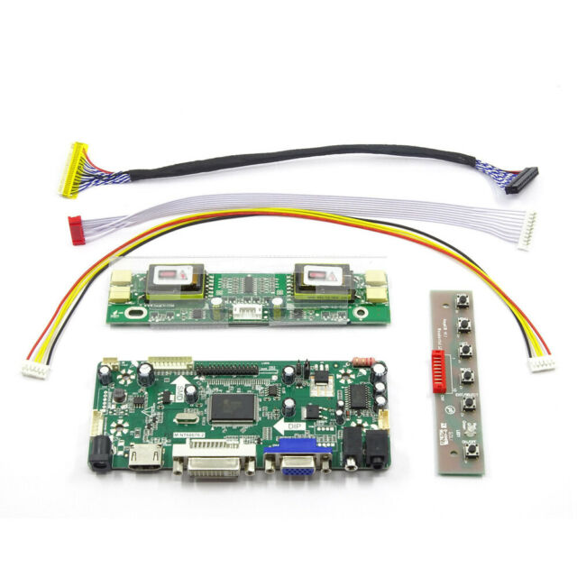 HDMI+DVI+VGA LCD Lvds Controller Board Monitor Kit for LTN154X1-L02 1280X800
