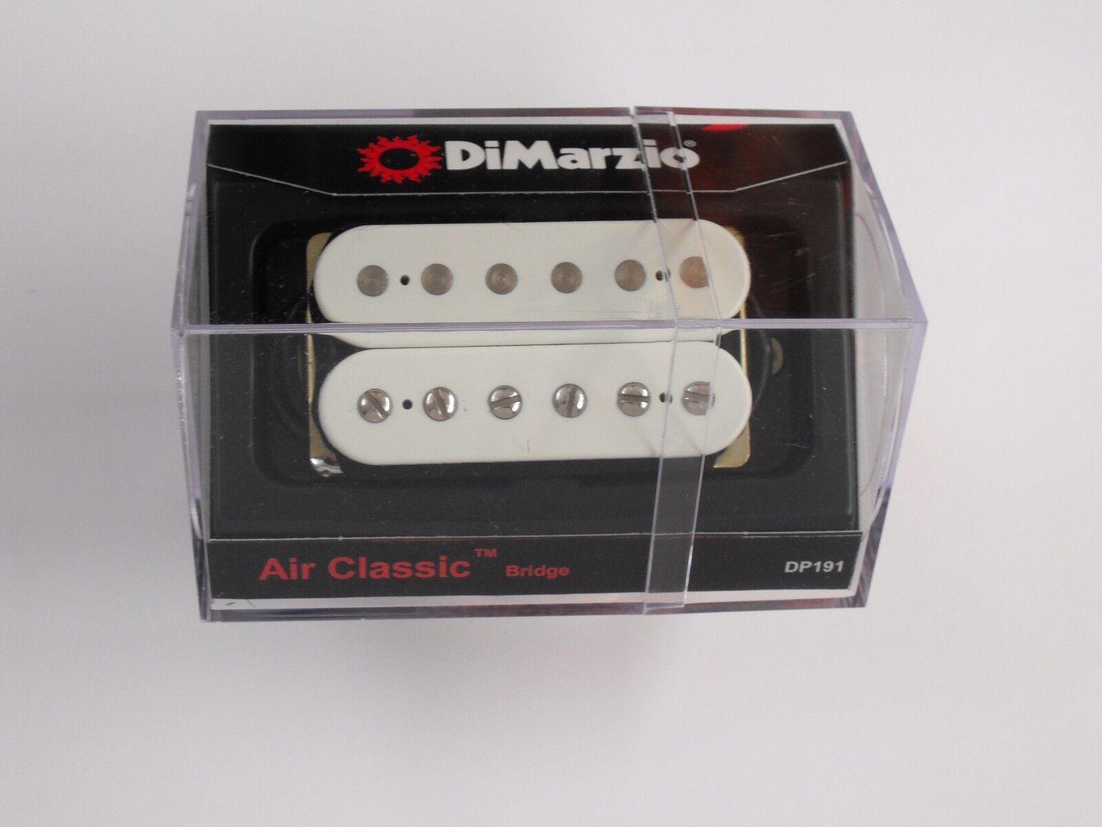 Dimarzio Air Classic Bridge regular regular regular espaciados Humbucker blancoo con postes de Cromo DP 191 58d975