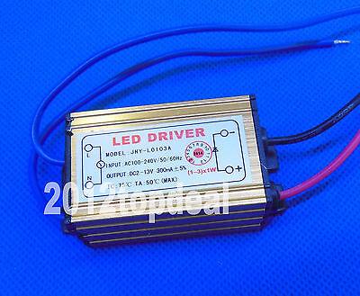 1-3x1 W Watt High Power LED Light Driver Power Supply 100-240V 300mA Waterproof
