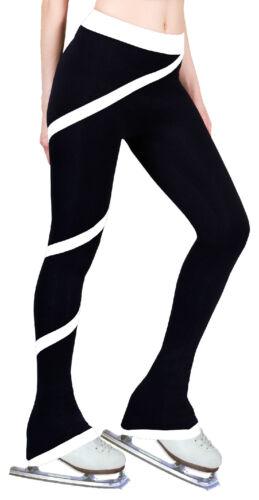 Pantaloni di pratica spirale a bianco polare pattinaggio pile ghiaccio pantaloni figura di di in qY1IrY