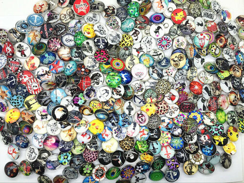 wholesale bulk lot assorted ginger 18mm high definition glass snap charm buttons