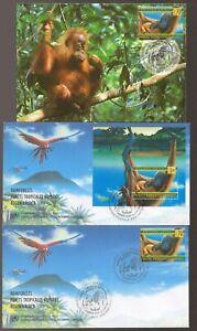 Tropical RAINFOREST Preservation ORANGUTAN United Nations Set Maxi Card FDC's