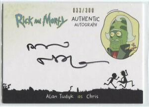 CRYPTOZOIC RICK AND MORTY SEASON 2 AUTOGRAPH CARD * ALAN TUDYK AS CHRIS * AT-C