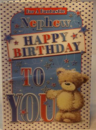 3D Lenticular Für ein Fantastisches Neffe Happy Birthday Karte 22.75cm x 15.25cm