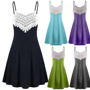 Women-039-s-Lace-Crochet-Sleeveless-Halter-Dress-Evening-Cocktail-Party-Mini-Dress