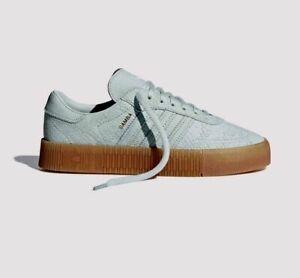 Détails sur Short Femme Adidas ORIGINALS SAMBA Rose Baskets UK 4,4 .5,  5,6,7,8 nouveaux vapeur Vert- afficher le titre d'origine