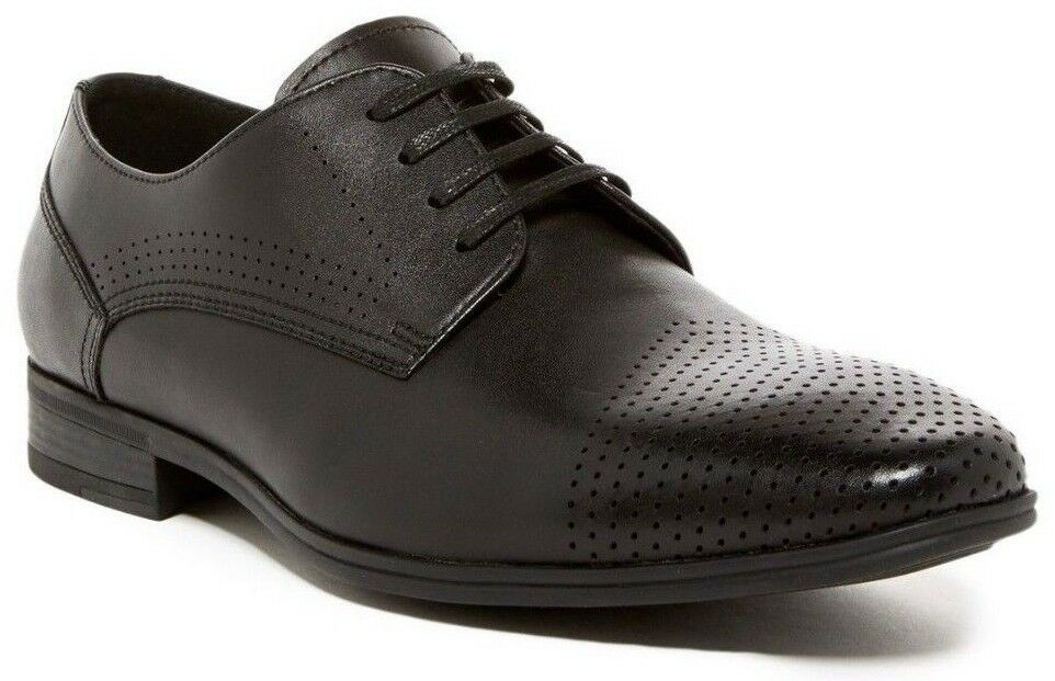 Kenneth Cole Reaction By The Minute Derby Mens Leather Oxford Shoes Black US 8.5