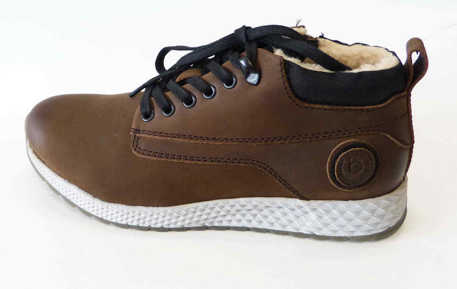 Bugatti Sneaker Boot Javey brown brown Leder Reißverschluß warm Stiefel