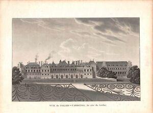 Stable Gravure Vue De Paris - Vue Du Palais Cardinal - Circa 1840 Belle Apparence