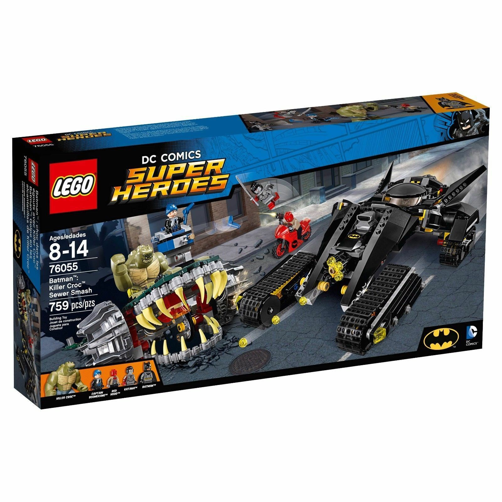 76055 BATMAN KILLER CROC SEWER SMASH lego NEW dc super heroes LEGOS set rosso hood