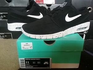incluir garrapata Motivación  Nike Air Zoom Stefan Janoski Max Leather L SB Suede Black White dunk 685299  002 | eBay