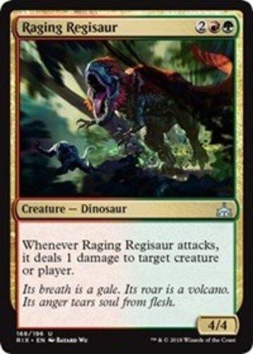 English Rivals of Ixalan MTG Magic 4x Raging Regisaur NM-Mint