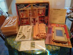 """SEARS FASHION MANSION PLAY SET, 3FT. TALL DOLL HOUSE FOR 11.5 """" DOLLS PRE OWNED"""