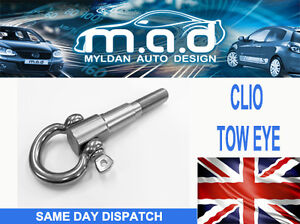 Renault-Clio-MK2-PH1-amp-2-Stainless-Steel-Tow-Eye-172-182-1-2-1-4-1-6-cup-trophy