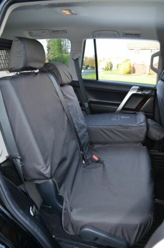 Tailored Front Rear Black Waterproof Seat Covers For Toyota Land Cruiser 2009+