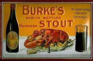 BURKES-STOUT-Vintage-Metal-Pub-Sign-3D-Embossed-Steel-Home-Bar