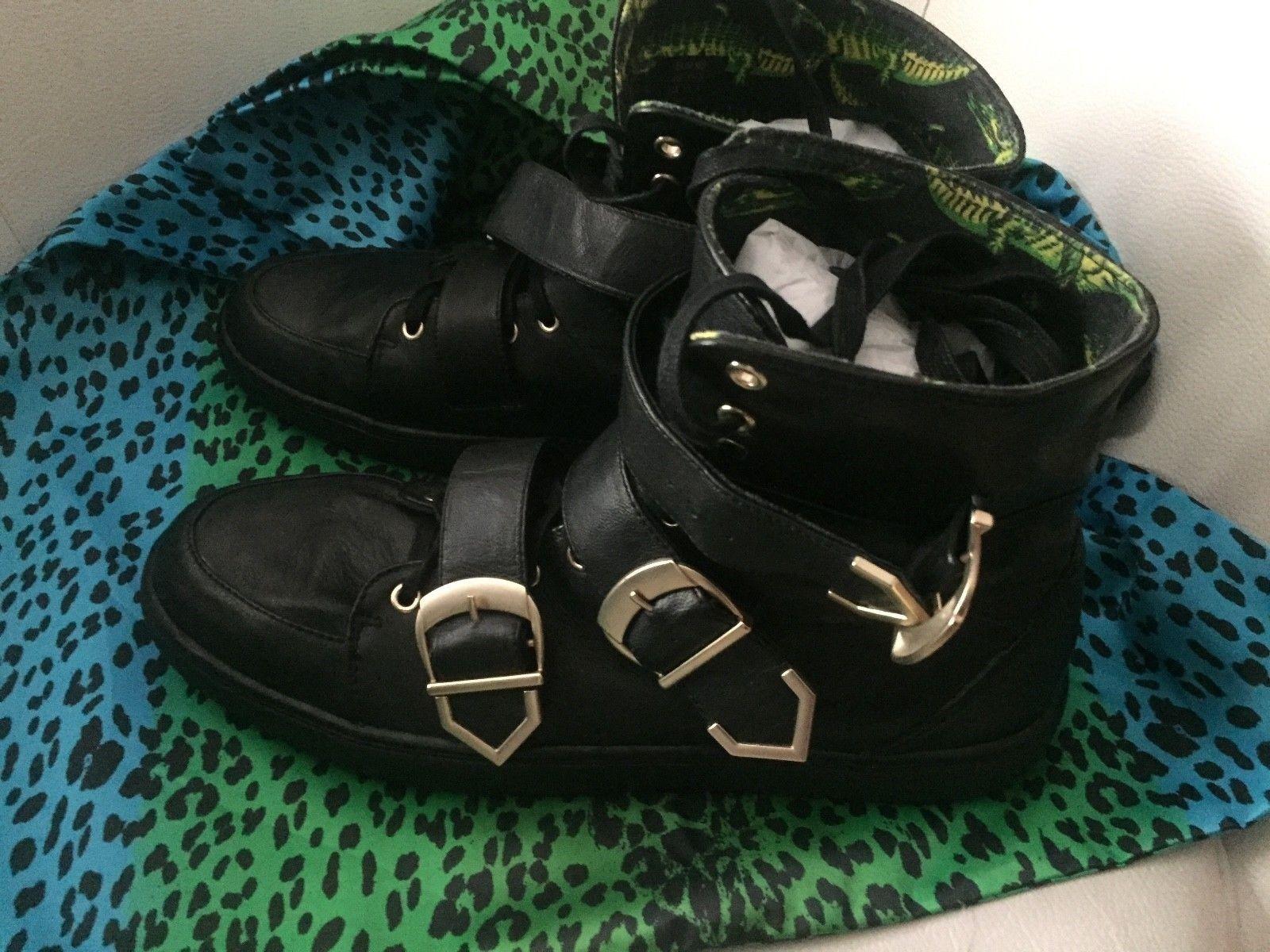 Versace for H&M Boots Leder Sneaker Biker Leather Leather Leather EUR Größe 45 size US 11,5 ec4f24