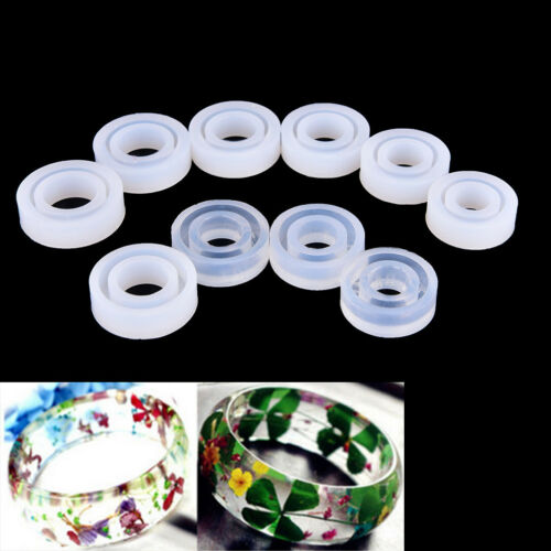 Transparent DIY Silicon Round Ring Mold Mould Jewelry Making Tool Resin vn
