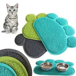 Paw-Shape-Dog-Cat-Placemat-Pets-Dish-Bowl-Feeding-Food-Mat-Wipe-Clean-Bluelans