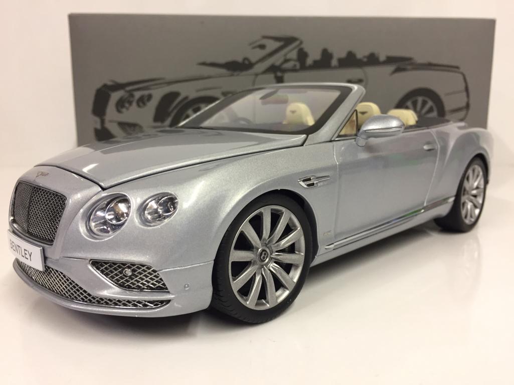 Bentley Continental Gt 2016 Conv Rhd argentoo Ghiaccio 1 18 Paragon 98231R