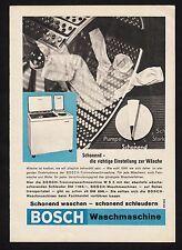 3w1585/ Alte Reklame von 1960 - BOSCH Waschmaschine - Schonend waschen.