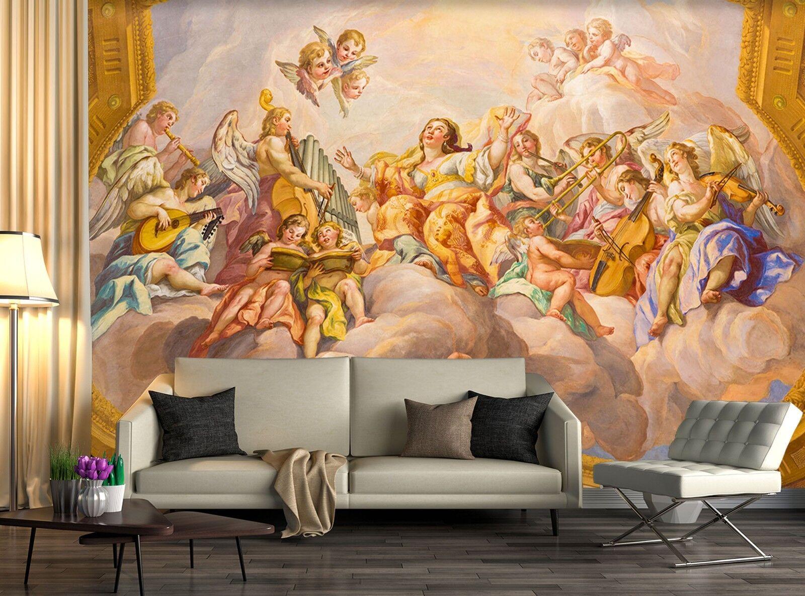 3D Church Angel Band 23 Wallpaper Mural Print Wall Indoor Wallpaper Murals UK