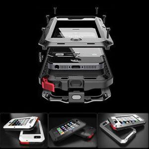 Black-Aluminum-Gorilla-Water-Shockproof-iPhone-amp-Samsung-S5-S6-S7-S8-Note-Case