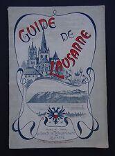 Guide de LAUSANNE 1908 Suisse Swiss Schweiz publicité plan Société développement