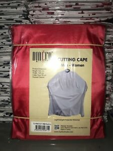 Barber-Cape-Gown-Red-Plain-Salons-Hairdressers-Hair-Cutting-Capes-Premium