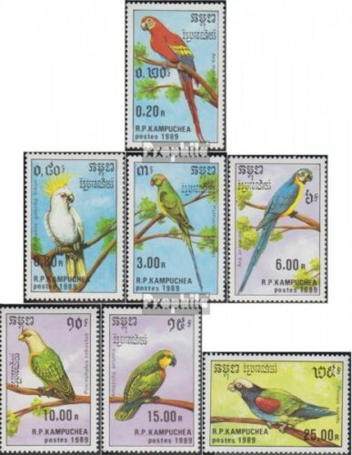 Cambodia 10161022 complete issue unmounted mint never hinged 1989 Parrots