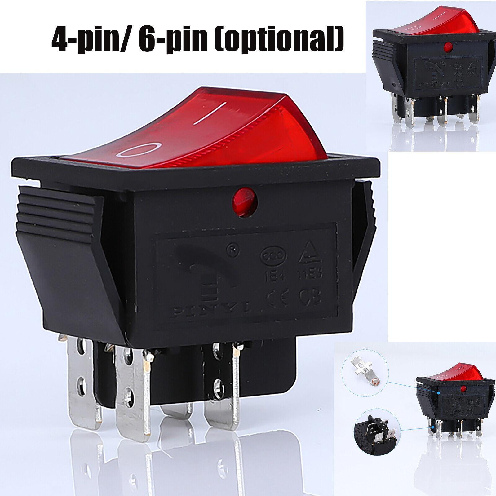 Para Soken rk1-01 interruptor 4 pin/6 pin con tornillos 2 posición 16a/250v t100 ade